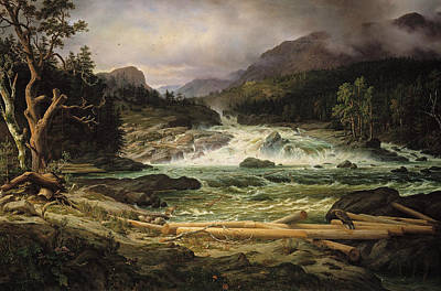 The Labro Falls At Kongsberg Poster