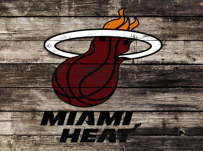 The Miami Heat Poster by Brian Reaves