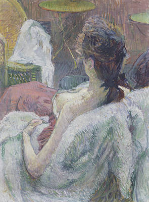 The Model Resting Poster by Henri de Toulouse-Lautrec