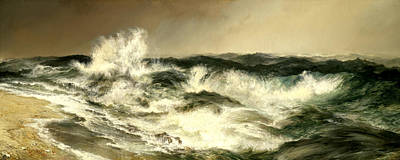 The Much Resounding Sea Poster by Thomas Moran