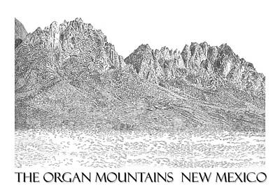 Poster featuring the painting The Organ Mountains by Jack Pumphrey