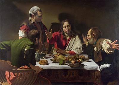 The Supper At Emmaus Poster by Caravaggio