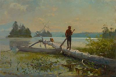 The Trapper Poster by Winslow Homer