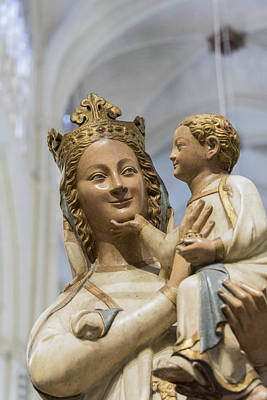 The Virgin Blanca Or Smiling Madonna - Toledo Cathedral - Toledo Spain Poster