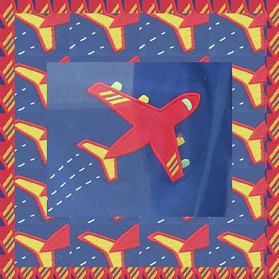 Poster featuring the digital art Theme Aviation Aeroplanes Aircraft Travel Holidays Christmas Birthday Festival Gifts Tshirts Pillows by Navin Joshi