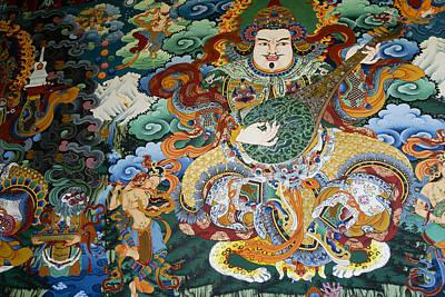 Tibetan Buddhist Mural Poster by Michele Burgess