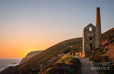 Tin Mine At St. Agnes, Cornwall, England Poster by Amanda Elwell
