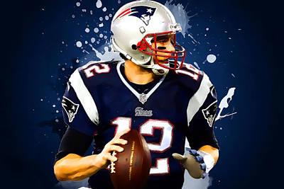 Tom Brady Poster by Semih Yurdabak