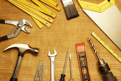 Tools Poster by Les Cunliffe