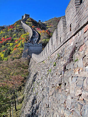 Top View. The Great Wall Of China. Poster
