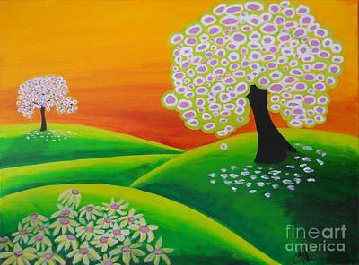 2 Trees Poster by Claudia Tuli