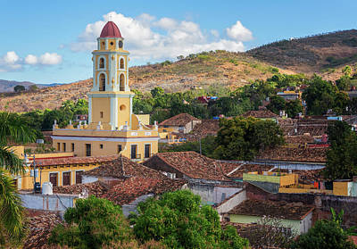 Poster featuring the photograph Trinidad Cuba Cityscape II by Joan Carroll