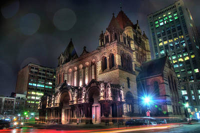 Poster featuring the photograph Trinity Church - Copley Square Boston by Joann Vitali