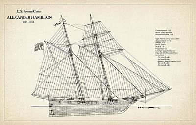 U.s. Revenue Cutter Alexander Hamilton Poster by Jose Elias - Sofia Pereira
