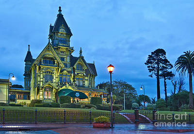 Victorian - The Carson Mansion Is One Of The Most Notable Examples Of Victorian Architecture. Poster by Jamie Pham