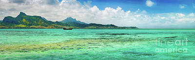 View Of A Sea At Day Time. Mauritius. Panorama Poster