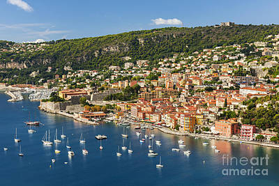 Villefranche-sur-mer View On French Riviera Poster by Elena Elisseeva
