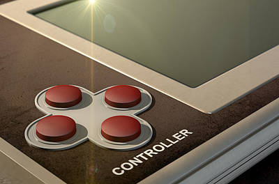 Vintage Handheld Video Game Poster