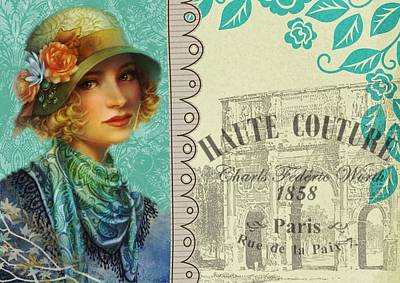 Vintage Paris Poster Poster by FL collection