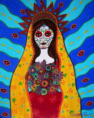 Virgen Guadalupe Poster by Pristine Cartera Turkus