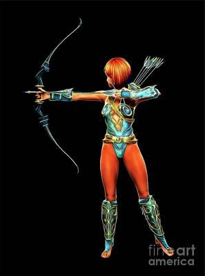 Warrior Queen, Digital Cosplay Art By Mb Poster