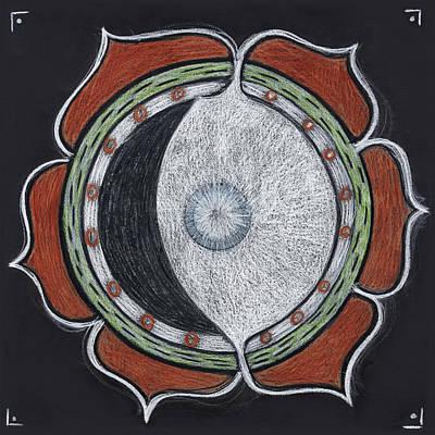Waxing Moon Mandala Of Regeneration Poster by Kim Alderman