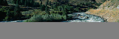 White Water On Payette River In Nez Poster