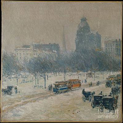 Winter In Union Square Poster by Celestial Images