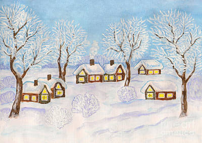 Winter Landscape, Painting Poster by Irina Afonskaya