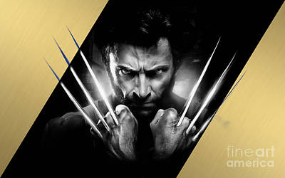 Wolverine Collection Poster by Marvin Blaine