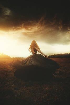 Woman In Black Poster by TJ Drysdale