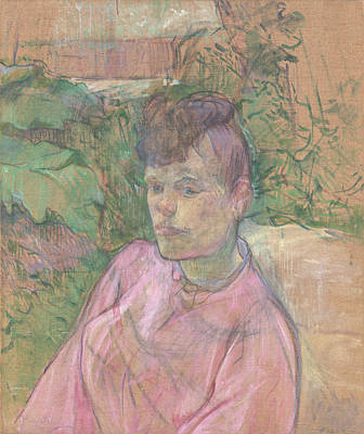 Woman In The Garden Of Monsieur Forest Poster by Henri de Toulouse-Lautrec