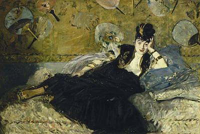 Woman With Fans Poster by Edouard Manet