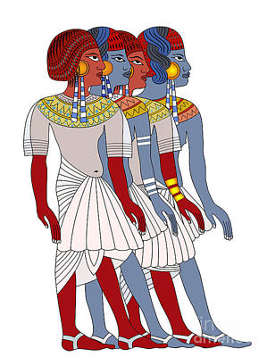 Women Of Ancient Egypt Poster by Michal Boubin