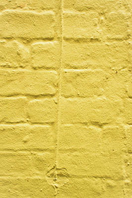 Yellow Brick Wall Poster by Tom Gowanlock