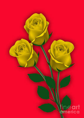 Yellow Roses Collection Poster by Marvin Blaine