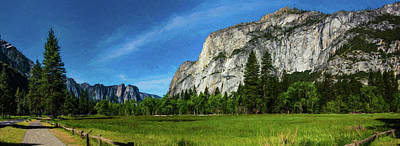 Yosemite Valley Meadow Panorama Poster