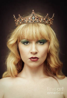 Young Woman Wearing Crown Poster