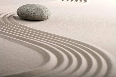 Zen Sand Stone Garden Poster