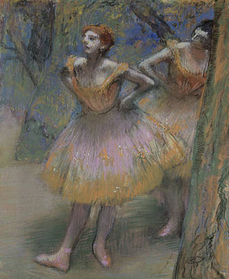 Two Dancers Poster by Edgar Degas
