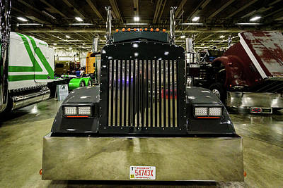 Poster featuring the photograph 2000 Kenworth W900 by Randy Scherkenbach