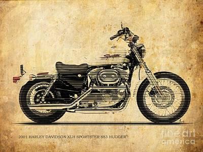 2001 Harley Davidson Xlh Sportster 883 Hugger For Men Office Poster