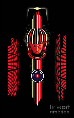 2001 Spaceman Poster by Sassan Filsoof