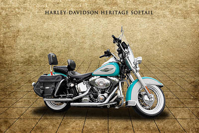 2005 Harley-davidson Heritage Softail - 1 Poster by Frank J Benz