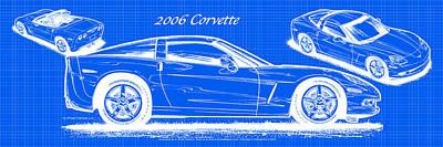 2006 Corvette Blueprint Series Poster