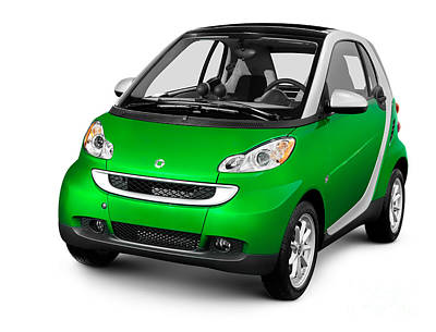 2008 Smart Fortwo City Car Poster by Oleksiy Maksymenko