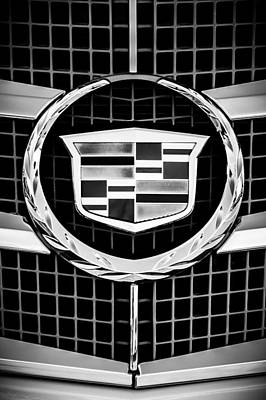 2011 Cadillac Cts Performance Collection -0584bw46 Poster by Jill Reger