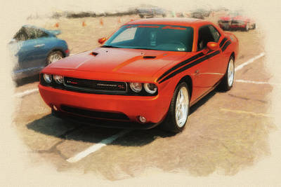 2011 Dodge Challenger R/t Stp Poster by Rich Fiddelke