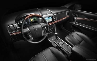 2011 Lincoln Mkz Hybrid Interior Wide Poster