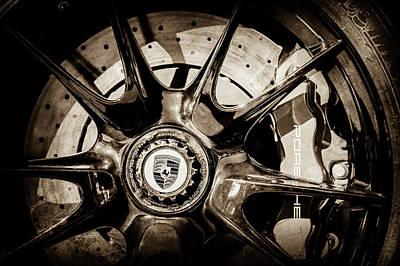 2011 Porsche 997 Gt3 Rs 3.8 Wheel Emblem -0989s Poster by Jill Reger